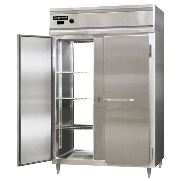 """Continental DL2W-SA-PT 52"""" Solid Door Pass-Through Heated Holding Cabinet - 2250W Main Image 1"""