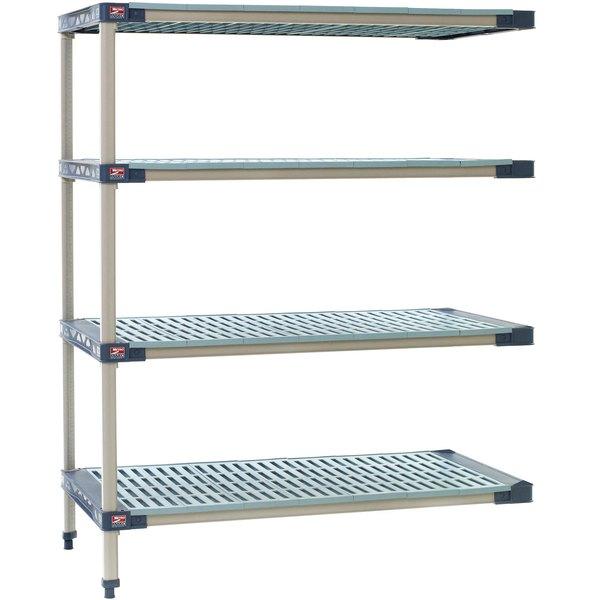 "Metro AX346G4 MetroMax 4 Grid 4-Shelf Stationary Shelving Add On Unit - 18"" x 42"" x 63"" Main Image 1"