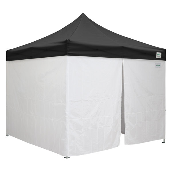 Caravan Canopy 21003205050 Classic 10' x 10' Black Heavy-Duty Commercial  Grade Instant Canopy Deluxe Kit with Side Walls