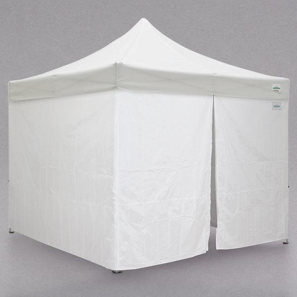 Caravan Canopy 21003106010 Aluma 10' x 10' White Heavy-Duty Commercial  Grade Instant Canopy Deluxe Kit with Side Walls