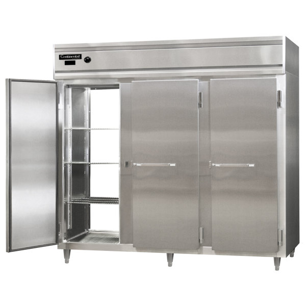 """Continental DL3WE-PT 86"""" Extra-Wide Solid Door Pass-Through Heated Holding Cabinet - 3000W Main Image 1"""