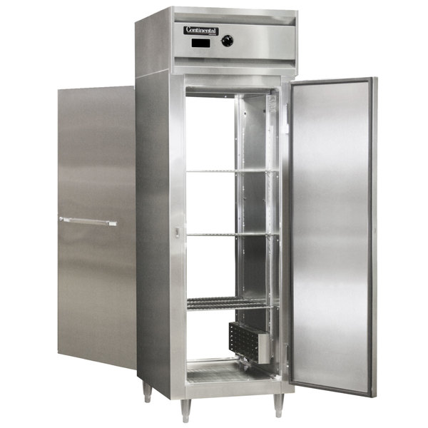 """Continental DL1W-SA-PT 26"""" Solid Door Pass-Through Heated Holding Cabinet - 1500W Main Image 1"""