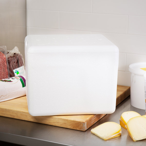 """Nordic TL-12107K 12"""" x 10"""" x 7"""" Insulated Polystyrene Cooler with Shipping Box"""