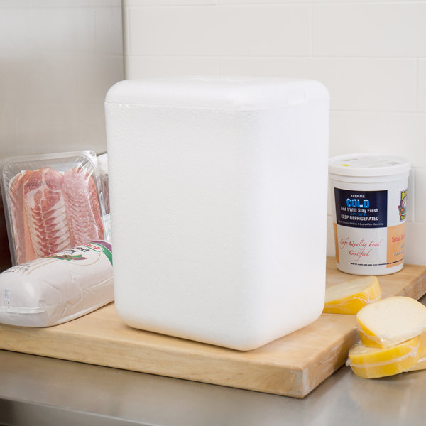 """Nordic TL-8612F 8"""" x 6"""" x 11 1/2"""" Insulated Polystyrene Cooler"""