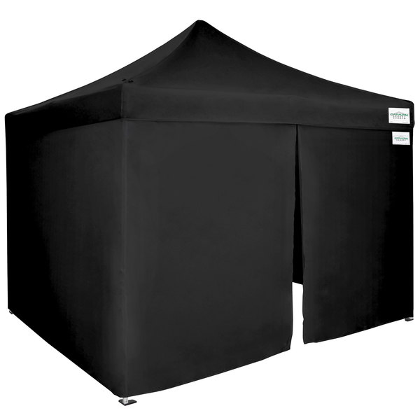 Caravan Canopy 21003502051 Alumashade Bigfoot 10' x 10' Black Light-Duty  Commercial Grade Instant Canopy Blackout Kit with Side Walls