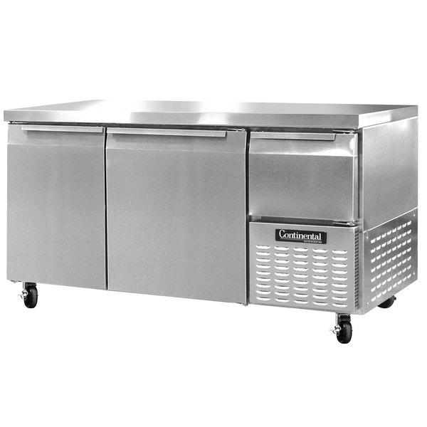 "Continental Refrigerator CFA60 60"" Extra-Deep Undercounter Freezer - 19 Cu. Ft."