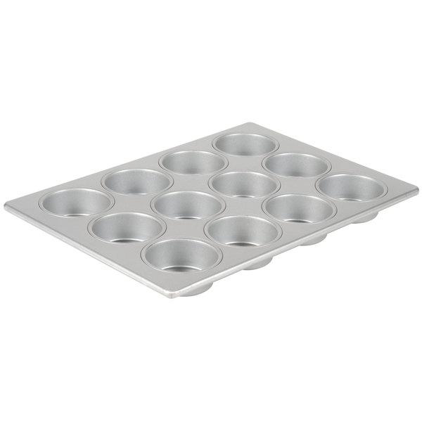 "12 Cup 6.2 oz. Glazed Aluminized Steel Jumbo Muffin / Cupcake Pan - 13 1/8"" x 17 7/8"" Main Image 1"