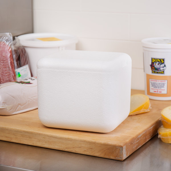 """Nordic TL-645F 6 1/4"""" x 4 5/8"""" x 5"""" Insulated Polystyrene Cooler"""