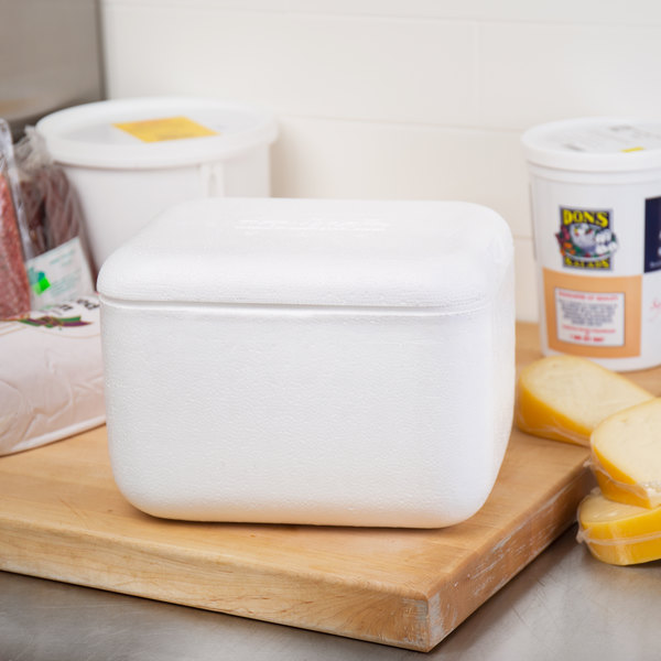 """Nordic TL-864F 8"""" x 6"""" x 4 1/4"""" Insulated Polystyrene Cooler"""