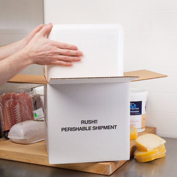 """Nordic TL-888K 7 13/16"""" x 7 13/16"""" x 7 3/4"""" Insulated Polystyrene Cooler with Shipping Box"""