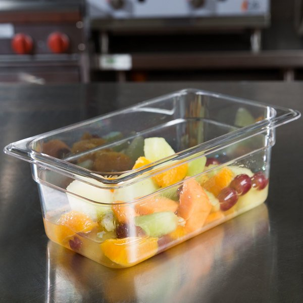 """1/4 Size Clear Polycarbonate Food Pan - 4"""" Deep Main Image 2"""