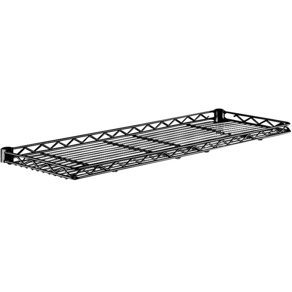 "Metro 1242CSNBL Black Cantilever Shelf - 12"" x 42"" Main Image 1"
