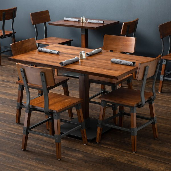 "Lancaster Table & Seating 30"" x 48"" Antique Walnut Solid ..."