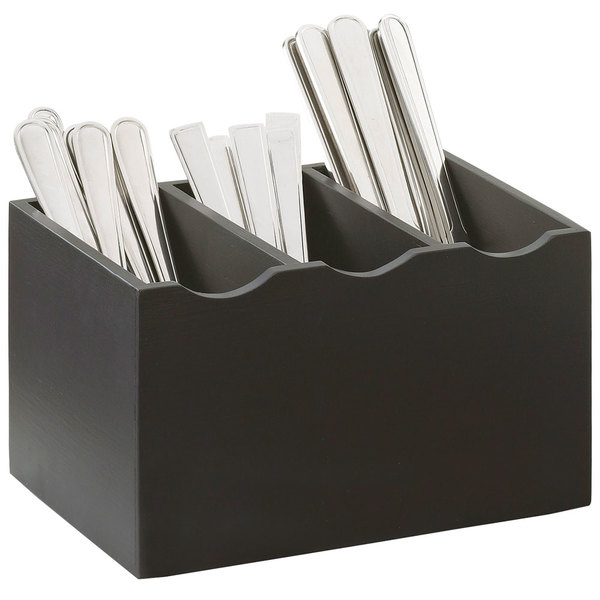 Cal-Mil 1244-96 Midnight Bamboo 3-Compartment Flatware Organizer Main Image 1