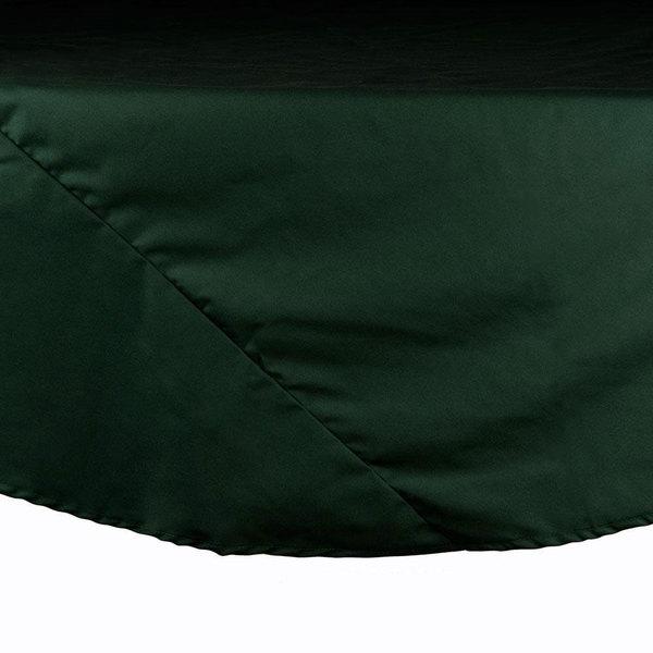 "Intedge 120"" Round Hunter Green Hemmed Polyspun Cloth Table Cover Main Image 1"