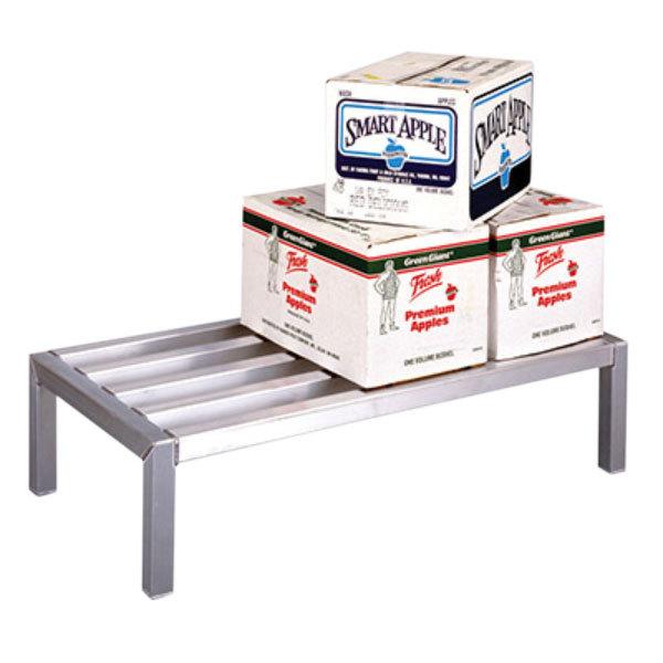 "Lakeside PBDR36 PrisonBilt 24"" x 36"" x 12"" Aluminum Dunnage Rack - 2500 lb. Capacity Main Image 1"