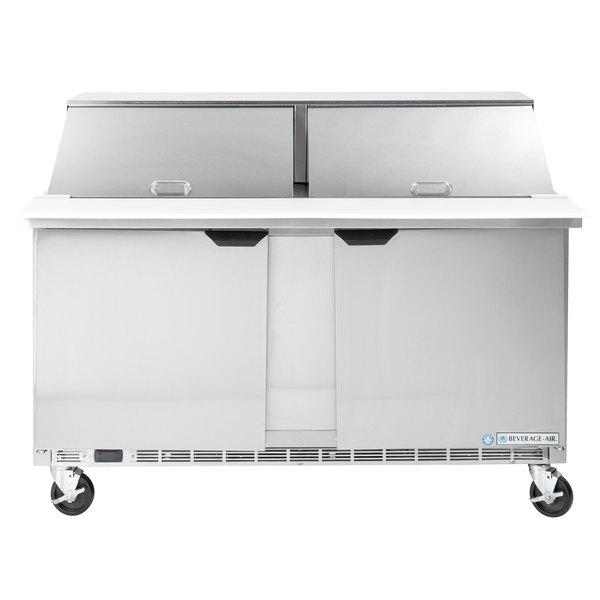 Beverage-Air SPE60HC-24M 60 inch 2 Door Mega Top Refrigerated Sandwich Prep Table