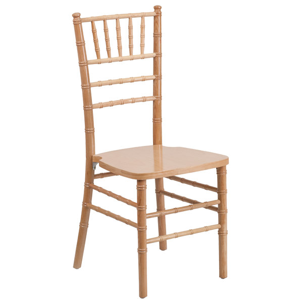 Flash Furniture XS-NATURAL-GG Hercules Natural Wood Chiavari Hardwood Stacking Chair