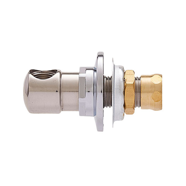 "Fisher 3900-0002 Backsplash Mounted 1/2"" Brass Faucet Base with Swivel Outlet Main Image 1"