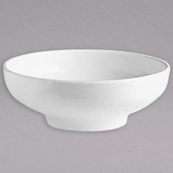 Hall China HL19540AWHA 42 oz. Ivory (American White) China Salad / Pasta Bowl - 6/Case Main Image 1