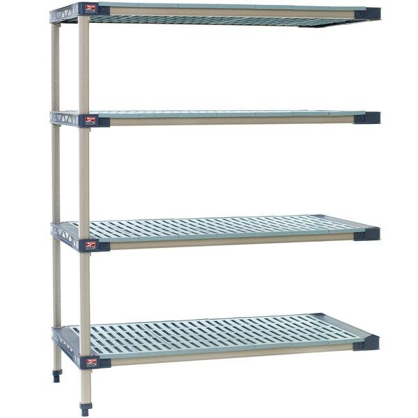 "Metro AX566G4 MetroMax 4 Grid 4-Shelf Stationary Shelving Add On Unit - 24"" x 60"" x 63"" Main Image 1"
