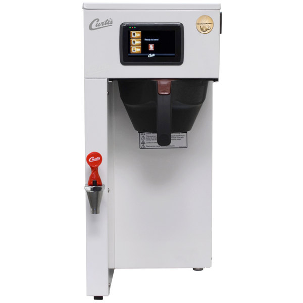 Curtis G4TP1S63W3100 G4 ThermoPro Sky White Single 1 Gallon Coffee Brewer - 110/220V Main Image 1
