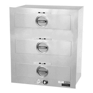 Toastmaster 3C80AT09 29 inch Built-In 3 Drawer Warmer - 120V, 1350W