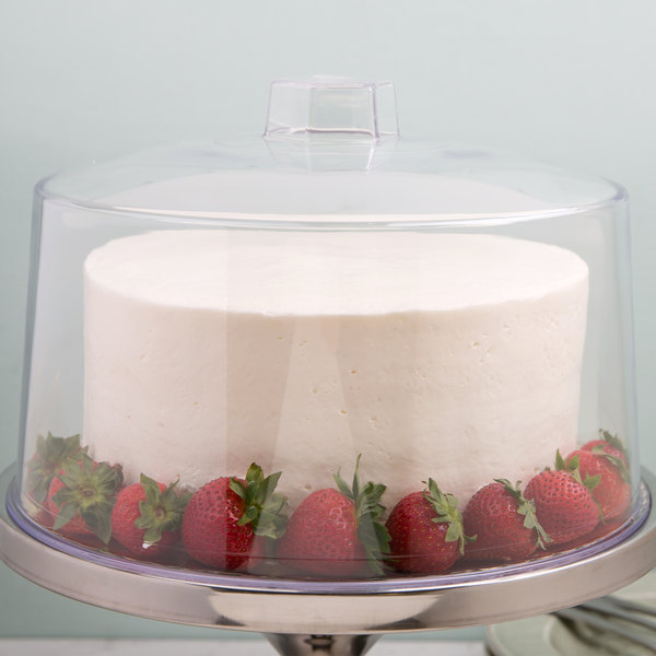 """Tablecraft 421 12"""" Clear Plastic Cake Cover"""