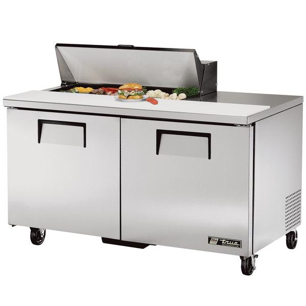 True TSSU-60-10 60 inch 2 Door Refrigerated Sandwich Prep Table