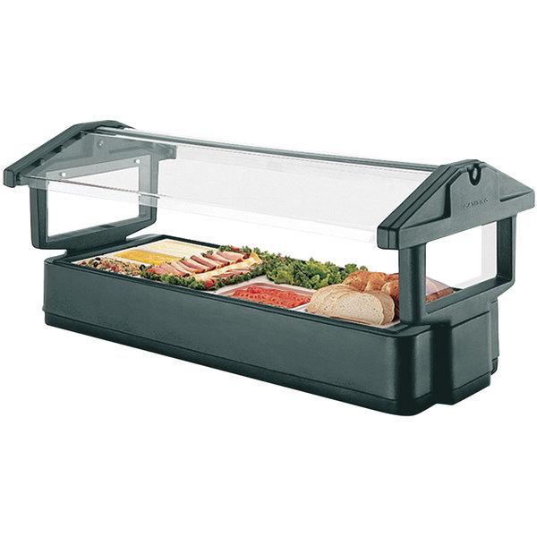 Cambro 4FBRTT519 4' Green Table Top Food / Salad Bar with Sneeze Guard