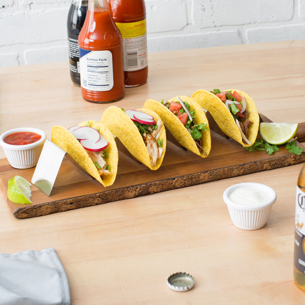 """Choice 13 1/4"""" x 2"""" x 2"""" Stainless Steel Half Size Taco Holder with 4 or 5 Compartments Main Image 5"""