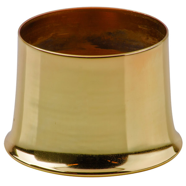 "Sterno Products 85480 - 3 13/16"" x 2 11/16"" Weathered Brass Metal Cocktail Lamp Base"