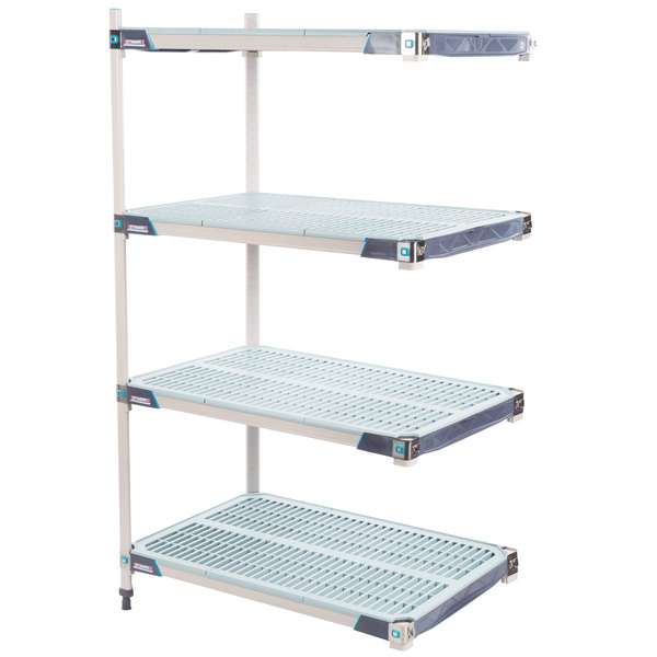 "Metro AX526GX3 MetroMax i 4-Shelf Polymer Add-On Shelving Kit - 24"" x 30"" x 63"" Main Image 1"