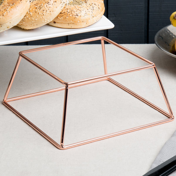 """Choice 4"""" Square Rose Gold Metal Display Stand"""
