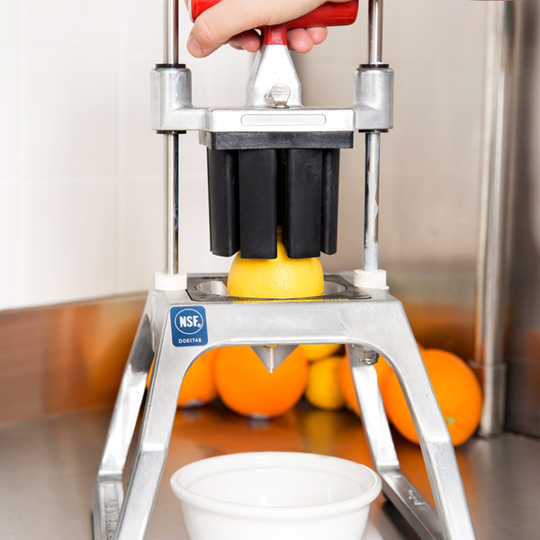 Vollrath 15003 Redco InstaCut 3.5 4 Section Fruit and Vegetable Wedger - Tabletop Mount Main Image 4