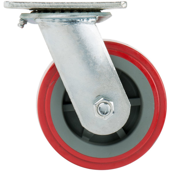 """Channel CPS25U 5"""" Polyurethane Swivel Plate Caster Main Image 1"""