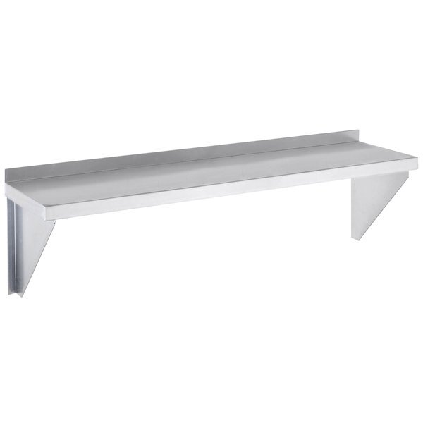 "Channel SWS1248 12"" x 48"" Wall Shelf - Stainless Steel"
