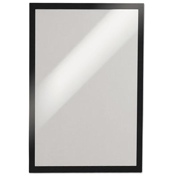 "Durable 491301 DURAFRAME 6 1/2"" x 9 1/2"" Black Sign Holder - 2/Pack Main Image 1"