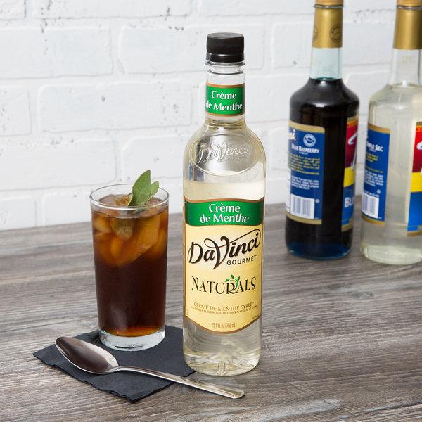 DaVinci Gourmet 750 mL All Natural Creme De Menthe Flavoring Syrup