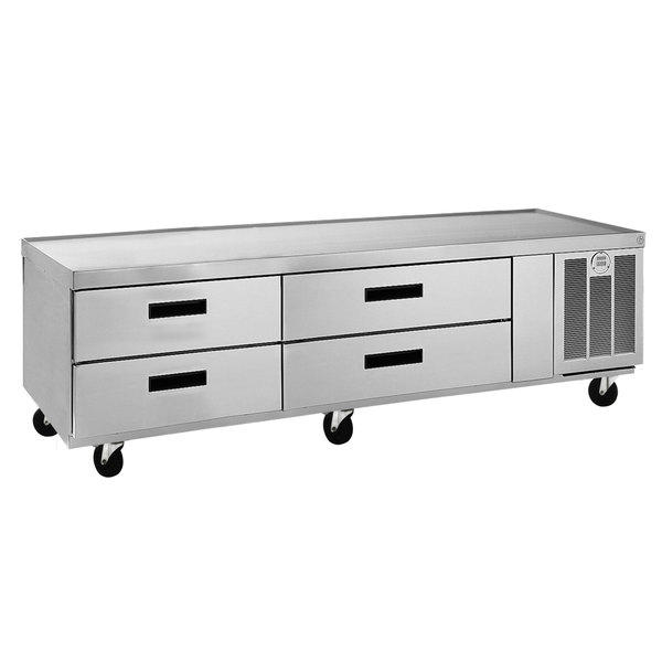 """Delfield F2978CP 78"""" 4 Drawer Low Profile Refrigerated Chef Base"""