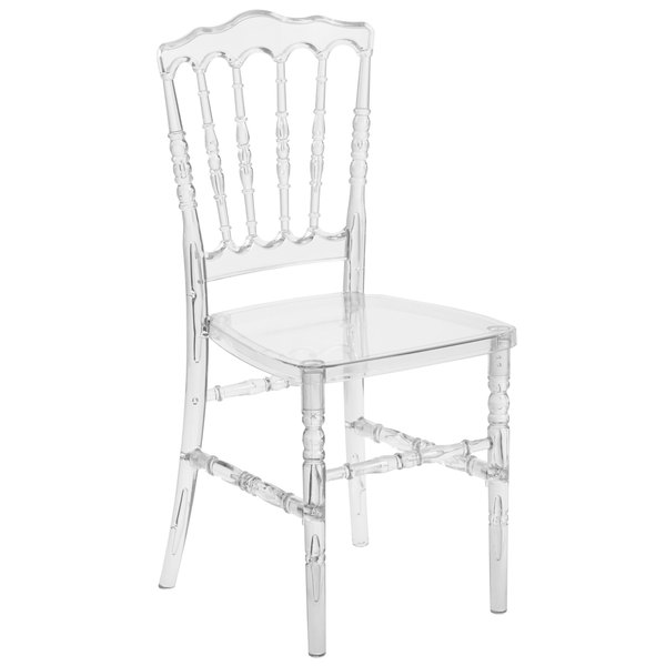 Flash Furniture BH H002 CRYSTAL GG Elegance Chiavari Napoleon Transparent  Polycarbonate Outdoor / Indoor Stackable Chair
