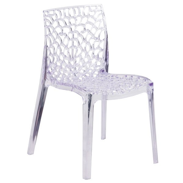 Flash Furniture FH 161 APC GG Vision Transparent Polycarbonate Outdoor /  Indoor Stackable Side Chair
