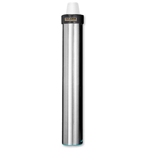 San Jamar C3200EF Stainless Steel Surface Mount Elevator Foam Cup Dispenser - 6 oz. to 10 oz.