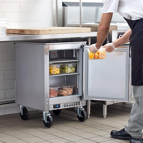 "Beverage-Air UCR20HC 20"" Shallow Depth Low Profile Undercounter Refrigerator Main Image 5"