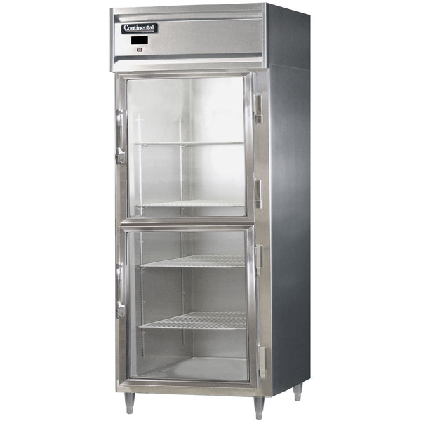 """Continental D1RXSNSSGDHD 36"""" Half Glass Door Extra Wide Reach-In Refrigerator Main Image 1"""