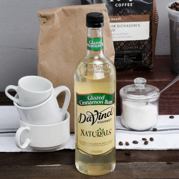 DaVinci Gourmet All Natural 700 mL Glazed Cinnamon Bun Flavoring Syrup Main Image 3