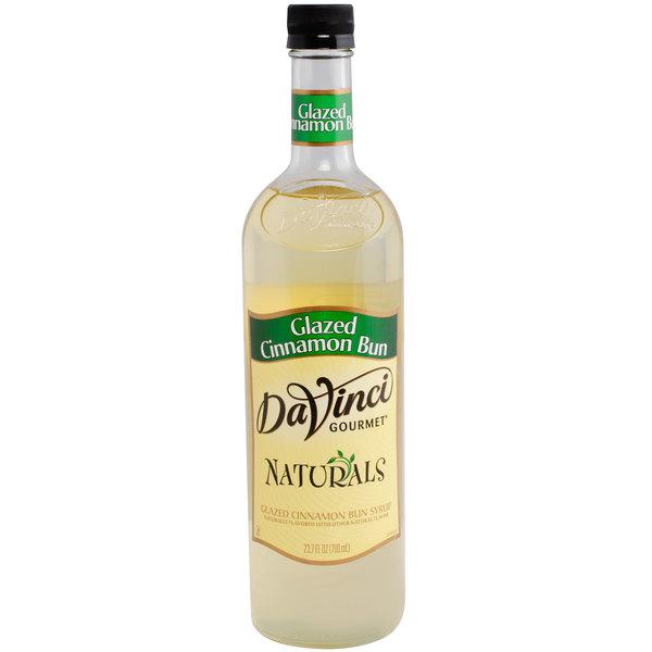 DaVinci Gourmet All Natural 700 mL Glazed Cinnamon Bun Flavoring Syrup