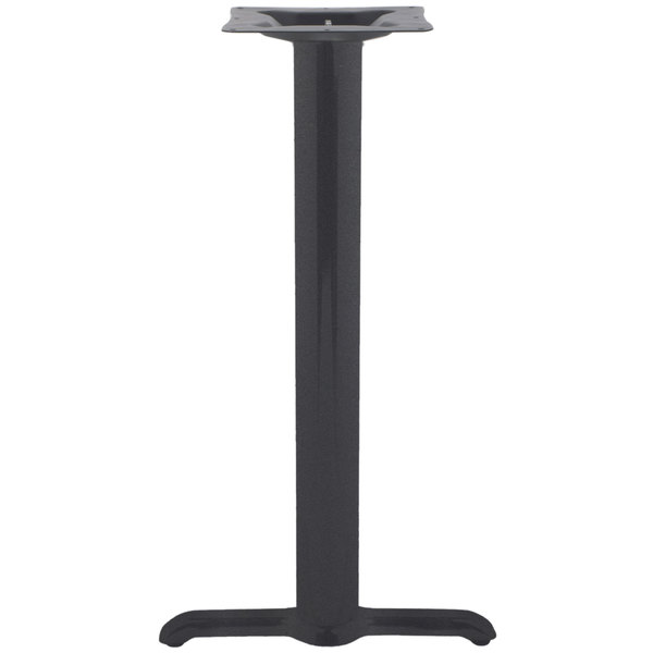 "BFM Seating STB-00224CBP 5"" x 22"" Sand Black Stamped Steel Counter Height Side Table Base, 4"" Column"