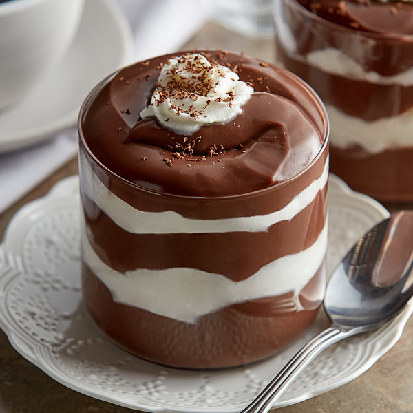 Cafe Classics Trans Fat Free Chocolate Pudding #10 Can - 6/Case Main Image 2