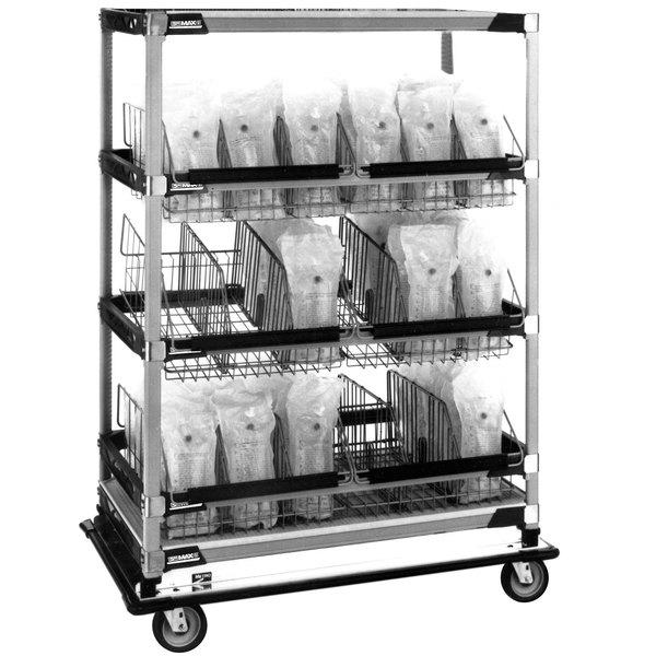 "Metro MXIV5 MetroMax i I.V. 8-Basket Solution Cart with Top Shelf - 24"" x 42"" x 69"" Main Image 1"